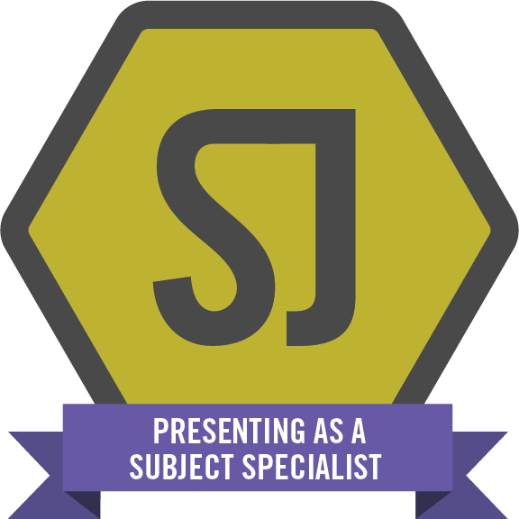 Presenting as a subject specialist